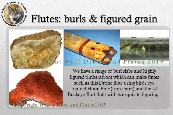 Wolf Drums and Flutes Decorative flute timbers